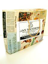 large Jan Sandesh Newspaper Gift Bag shown open