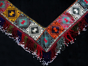 front view of Traditional Saye Gosha textile