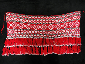 Intricately beaded, traditional Saye Gosha textile from Central Asia
