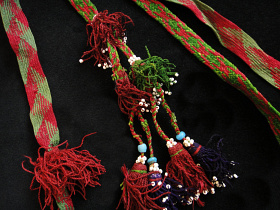 Double tassles set originally worn woven in the womens