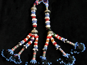 Vintage Turkoman Double Tassel Set from Central Asia