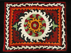 embroidered vintage Suzanni textile from Central Asia