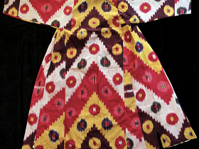 back view of Silk Robe