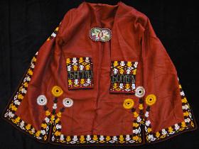 back view of Silk Chapan