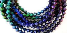 multiple strands of thermo-sensitive color-changing Mirage beads