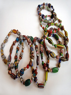 African Trade Bead bracelets, assortment