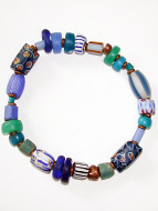 Bracelet of assorted large Venetian Glass Beads from the 1800