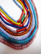 Assorted Small African Trade Bead Strands (10pc mix)