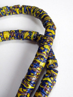 One of a kind African Trade Bead strand- glass beads made in Venice, Italy then traded in to Africa and around the world during the 1900