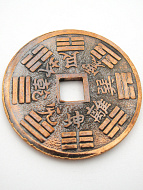 reverse of XL copper Chinese I-Ching coin