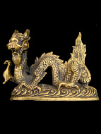 Serpent-like Dragon brass deity statue, a traditional symbol of strength and power.