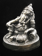 reclining Ganesh brass deity statue, the remover of obstacles