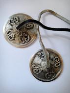 Brass Tincha Chimes depicting Om Mani Padme Om