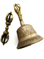 Brass Bell and Dorje set