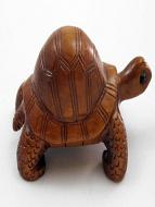 handcarved boxwood netsuke of turtle