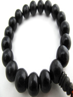 closeup of ebony bracelet