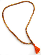 Prayer bead mala strand of 108 naturally fragrant 5mm sandalwood beads