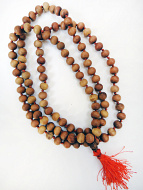 10mm knotted sandalwood mala prayer beads