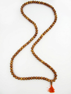 Prayer bead mala strand of 108 naturaly fragrant 12mm sandalwood beads