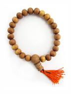 9mm sandalwood mala prayer bead bracelet