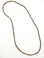 3mm sandalwood and ebony wood necklace