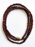 3mm rosewood necklace coiled