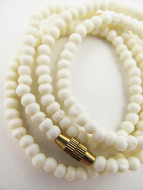 3mm white bone necklace