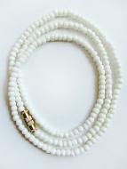3mm white bone necklace
