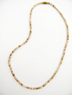 full view of 3mm tea-stain bone necklace