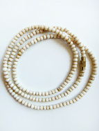 3mm tea-stain bone necklace