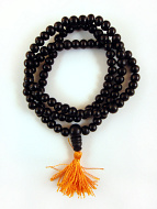 Prayer bead mala strand of 108 7mm ebony wood beads