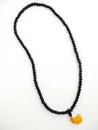 Prayer bead mala strand of 108 8mm ebony wood beads