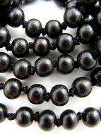 8mm knotted ebony wood mala prayer beads