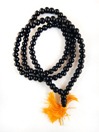 Prayer bead mala strand of 108 9mm ebony wood beads