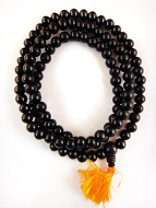 Prayer bead mala strand of 108 10mm ebony wood beads