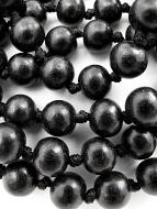 10mm knotted ebony wood prayer beads