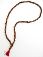Prayer bead mala strand of 108 7mm sheesham wood beads