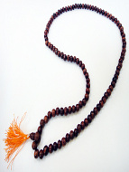 Prayer bead mala strand of 108 8mm sheesham wood beads