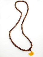 Prayer bead mala strand of 108 12mm sheesham wood beads
