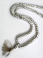 Prayer bead mala strand of 108 carved bone beads