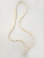 Prayer bead mala strand of 108 10mm white bone beads