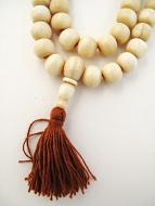 Prayer bead mala strand of 108 12mm light bone beads