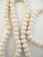 Prayer bead mala strand of 108 12mm white bone beads
