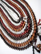 10pc assortment of Lotus Seed prayer bead mala strands
