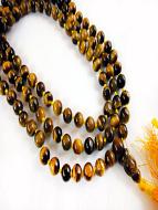 Knotted prayer bead mala strand of 108 tiger