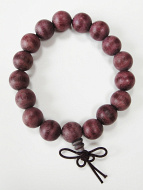 Purpleheart Mala Bracelet strung on stretch elastic cord