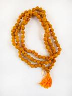 coiled strand Knotted Haldi Turmeric Mala prayer beads