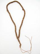 view of full strand of olive wood tespeh prayer beads