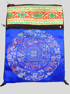 Blue Shoulder-Bag, decorated with the dragon-mandala motif