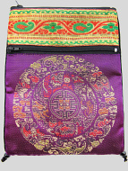 Purple Shoulder-Bag, decorated with the dragon-mandala motif